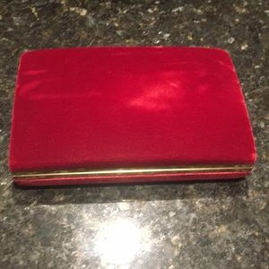 Other - Red jewelry box with gold trim